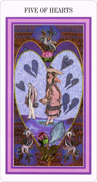 The Enchanted Tarot - Five of Hearts