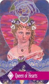 The Enchanted Tarot - Queen of Hearts