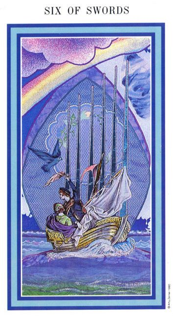 The Enchanted Tarot - Six of Swords