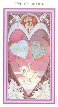 The Enchanted Tarot - Two of Hearts