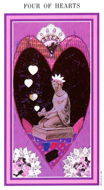 The Enchanted Tarot - Four of Hearts