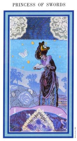 The Enchanted Tarot - Princess of Swords