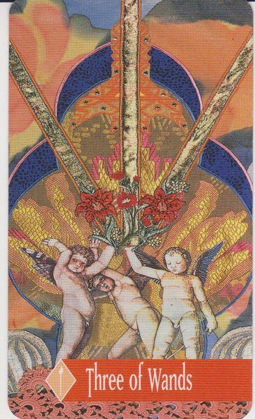 The Enchanted Tarot - Three of Wands