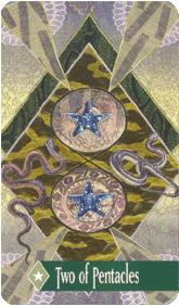 The Enchanted Tarot - Two of Pentacles