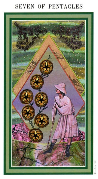 The Enchanted Tarot - Seven of Pentacles