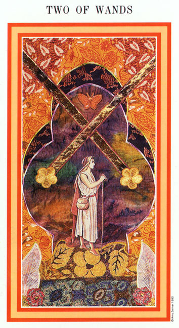 The Enchanted Tarot - Two of Wands