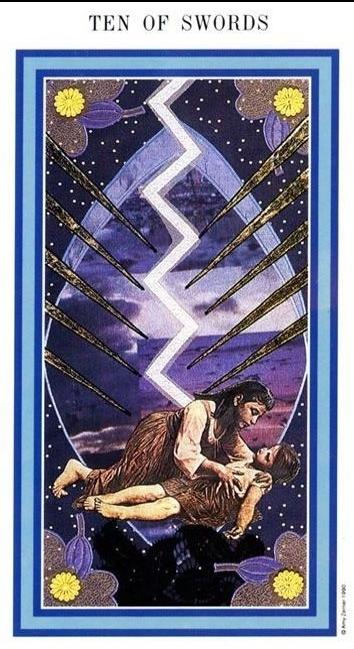 The Enchanted Tarot - Ten of Swords