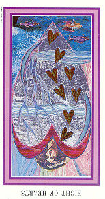 The Enchanted Tarot - Eight of Hearts