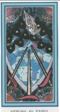 The Enchanted Tarot - Three of Swords