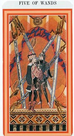 The Enchanted Tarot - Five of Wands
