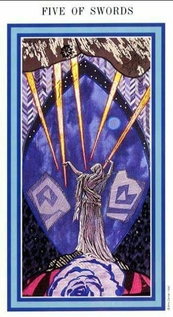 The Enchanted Tarot - Five of Swords