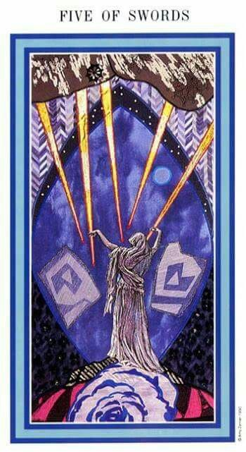 The Enchanted Tarot - Five of Swords